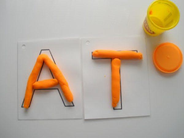Буквы А и Т: пластилинография