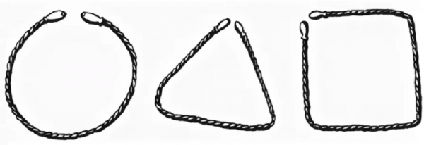 геометрические фигуры из шнурка