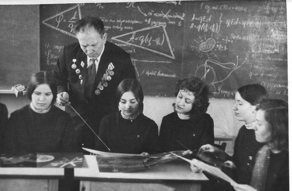 Учитель и ученики в СССР