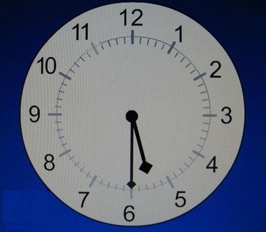 На модели часов 5 часов 30 минут