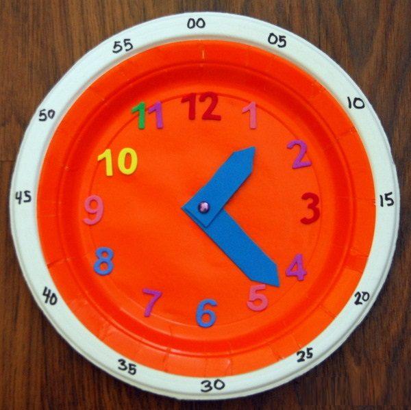Самодельные часы из одноразовой тарелки