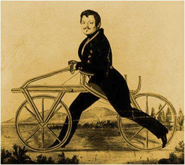 Мужчина на велобеге