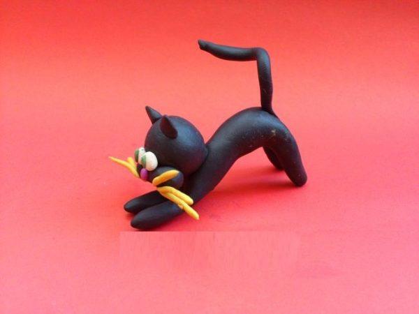 Котик комбинированным способом