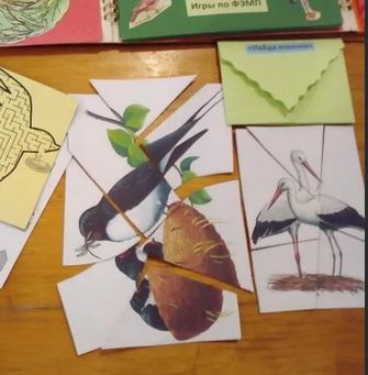 Разрезные картинки по теме «Птицы»