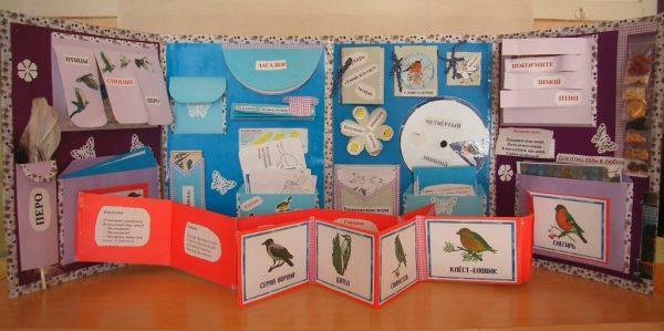 Выдвижная лента с изображениями птиц