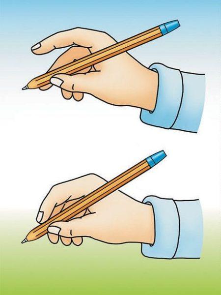 Правильный захват ручки